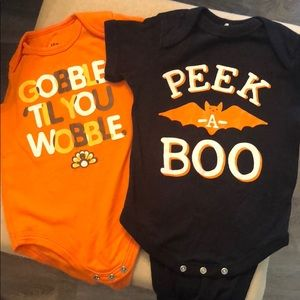 Cute Holiday Onesies! Size 12 mo